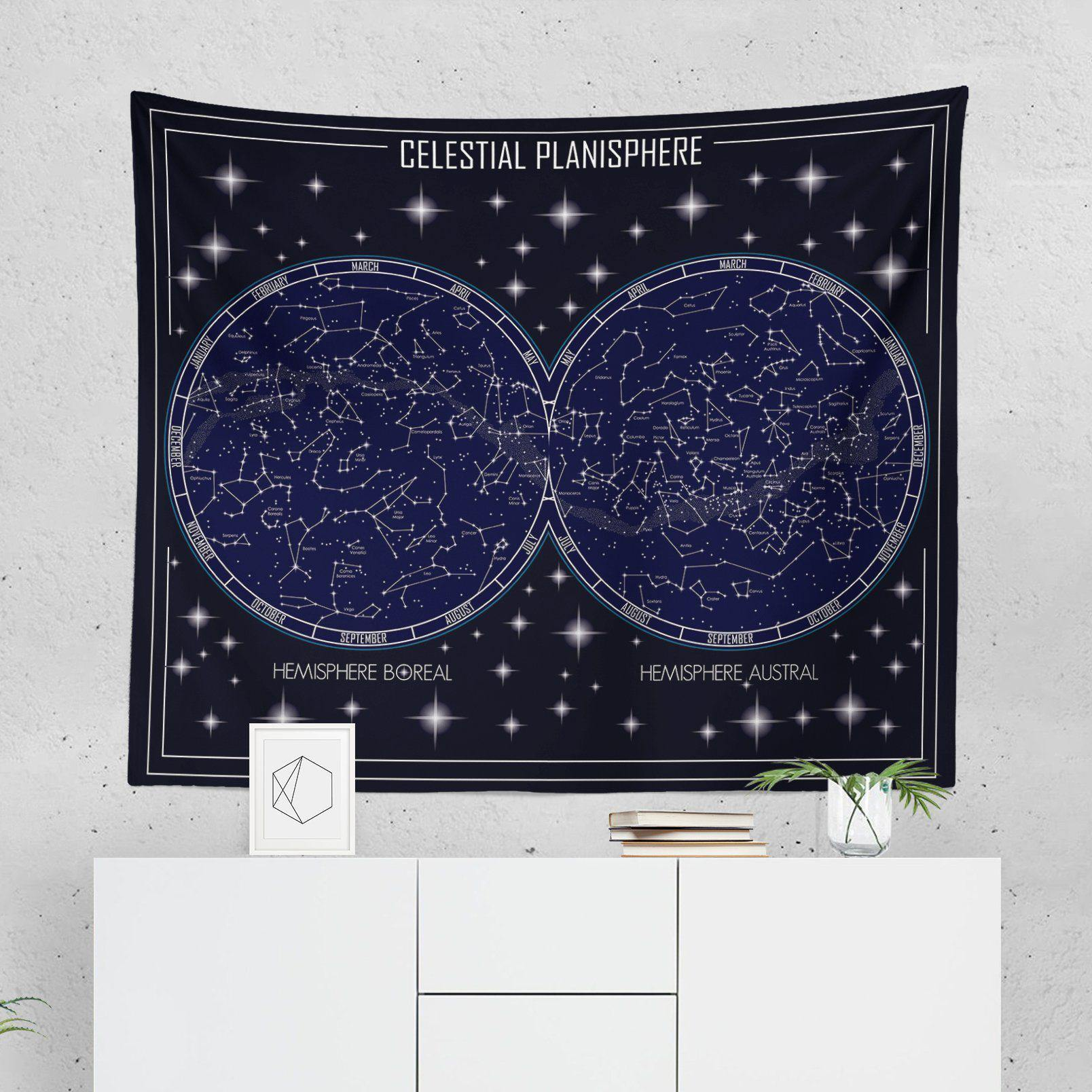 Celestial Map Wall Tapestry-W.FRANCIS