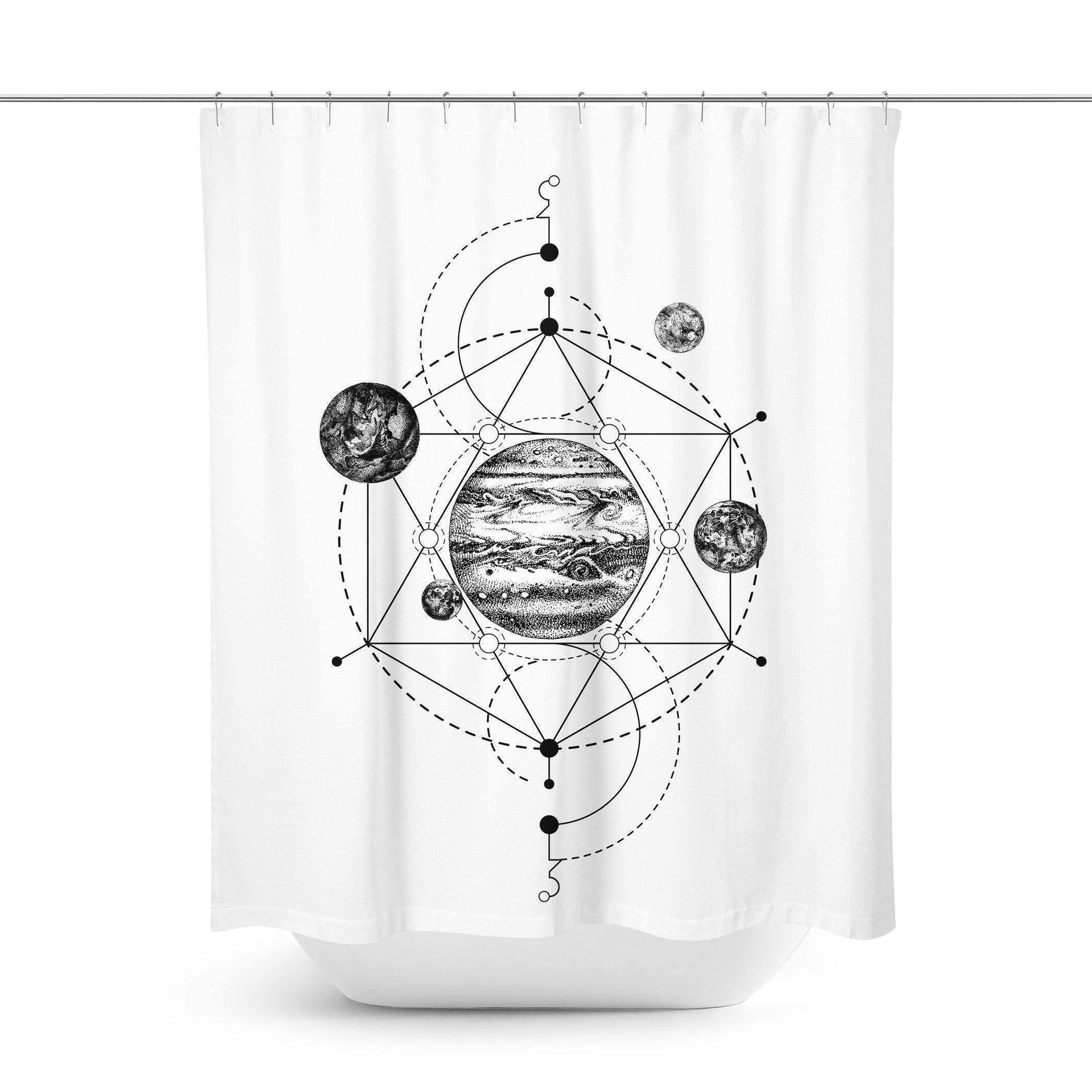 Celestial Planets Shower Curtain - Shower Curtains - W.FRANCIS