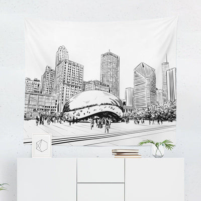 Chicago Skyline Tapestry-W.FRANCIS