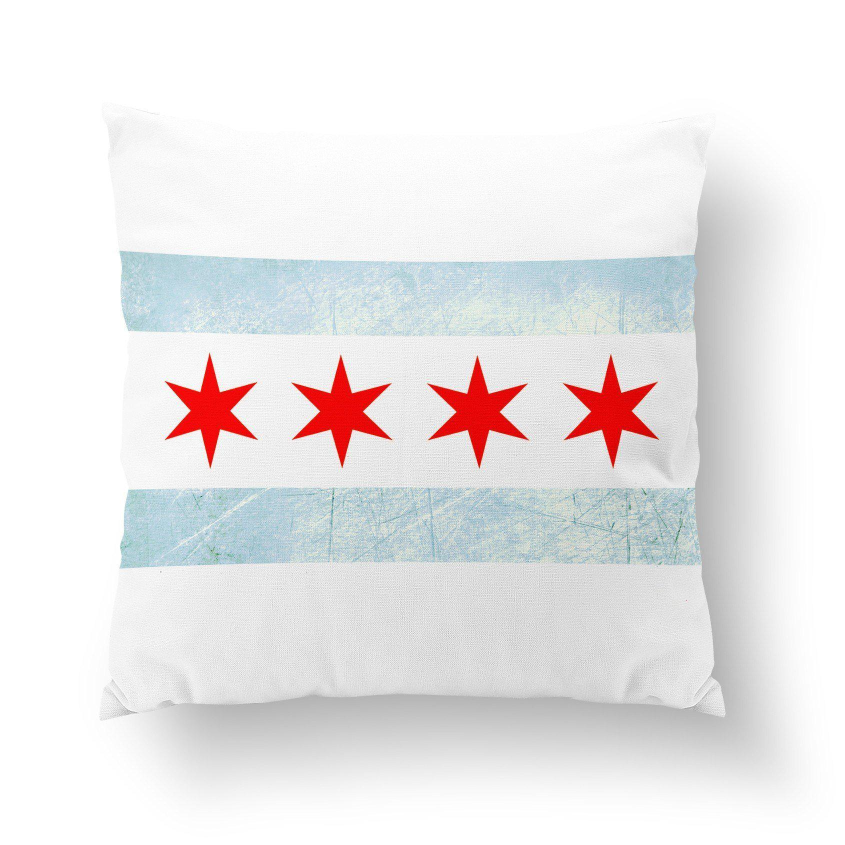 Chicago Throw Pillow-W.FRANCIS