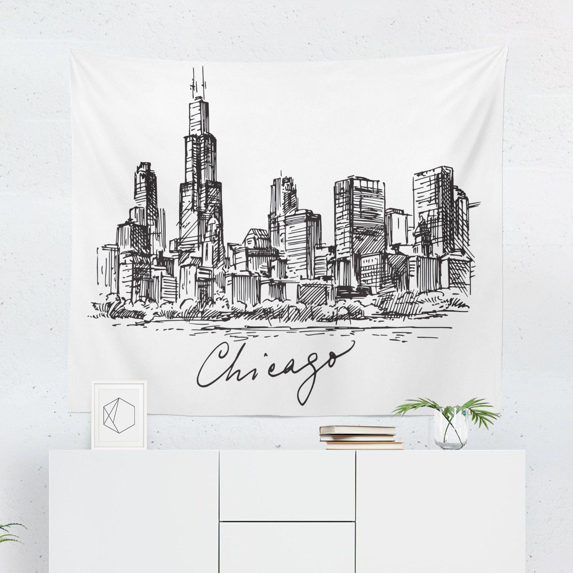 Chicago Wall Tapestry - Tapestries - W.FRANCIS