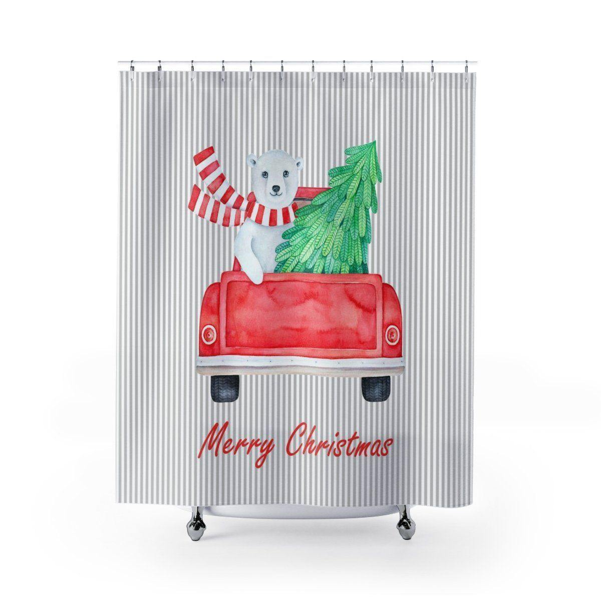 Christmas Car Shower Curtain-W.FRANCIS