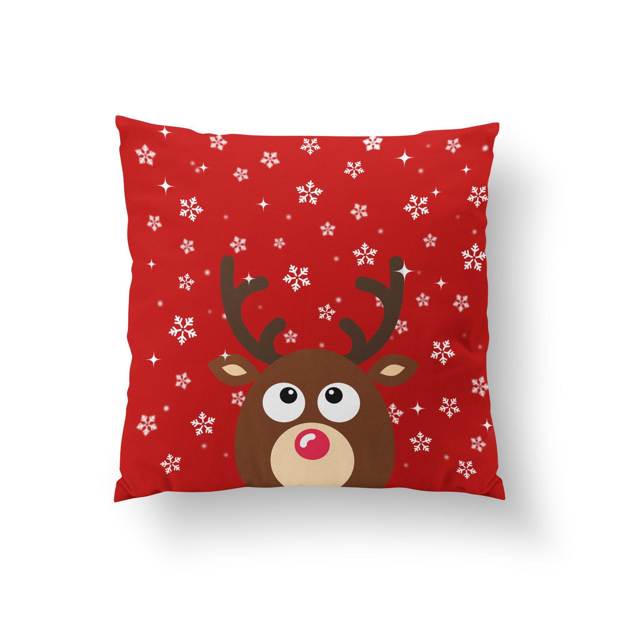 Christmas Reindeer Pillow - Pillow Covers - W.FRANCIS