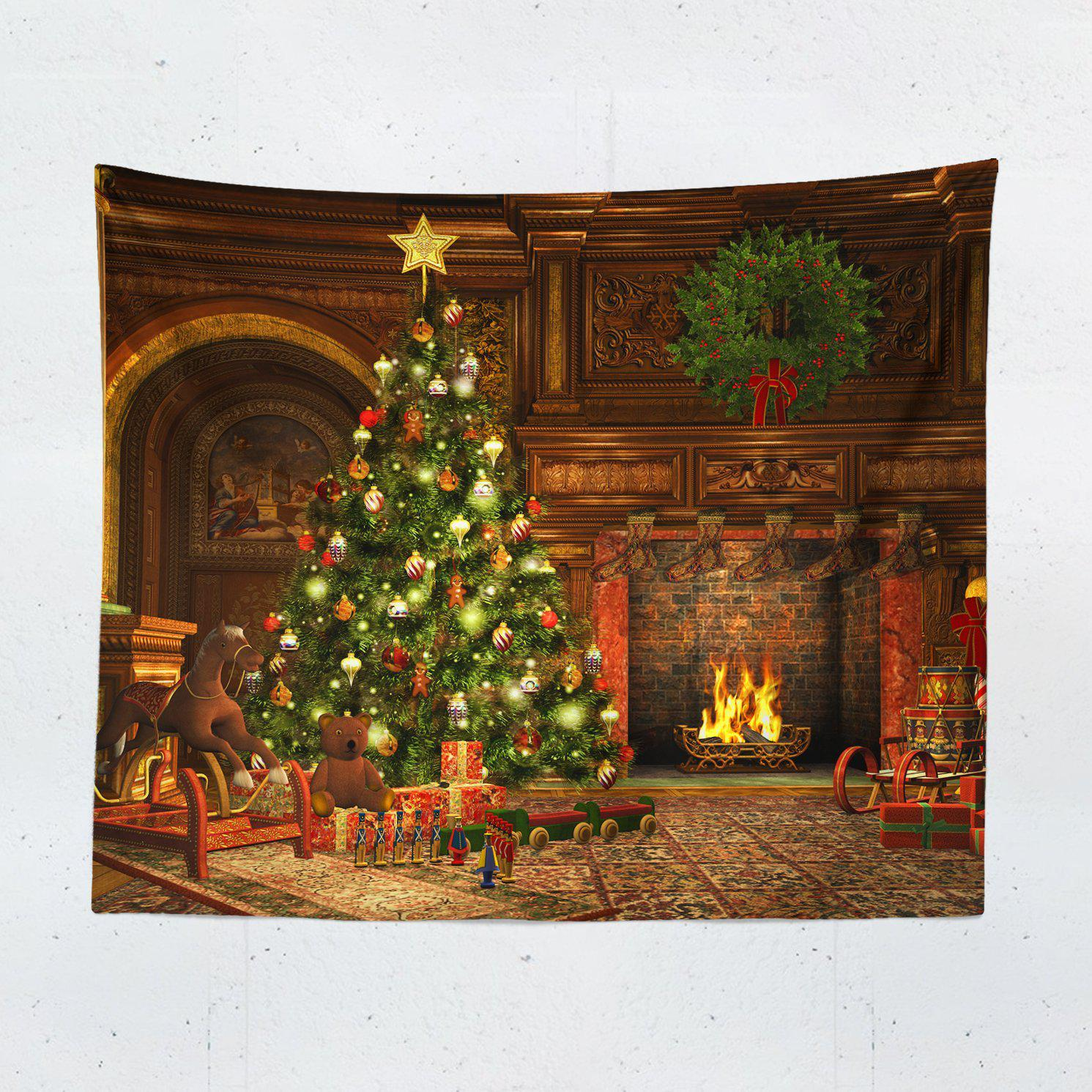 Christmas Scene Wall Tapestry - Tapestries - W.FRANCIS