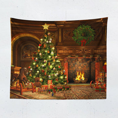 Christmas Scene Wall Tapestry-W.FRANCIS