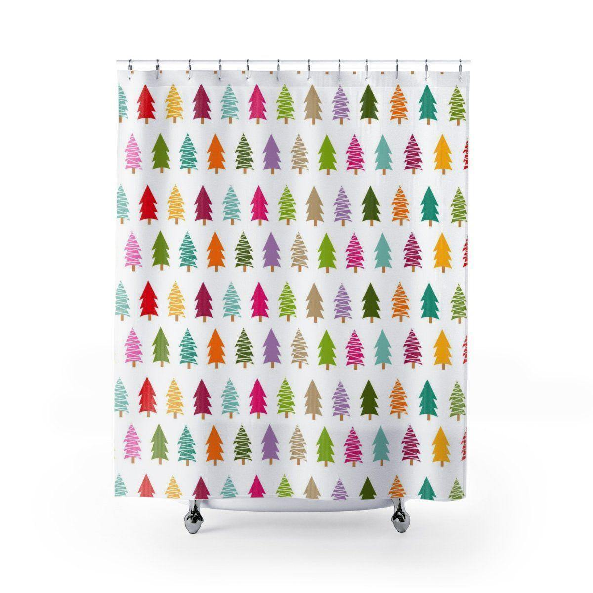 Christmas Tree Shower Curtain-W.FRANCIS