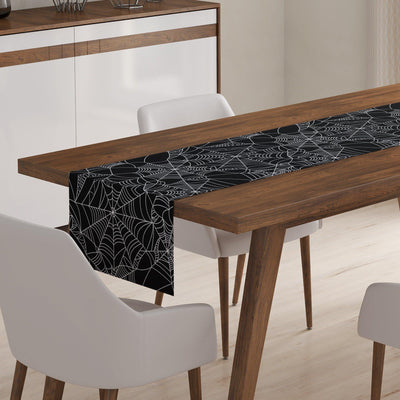 Black Spiderweb Table Runner-W.FRANCIS