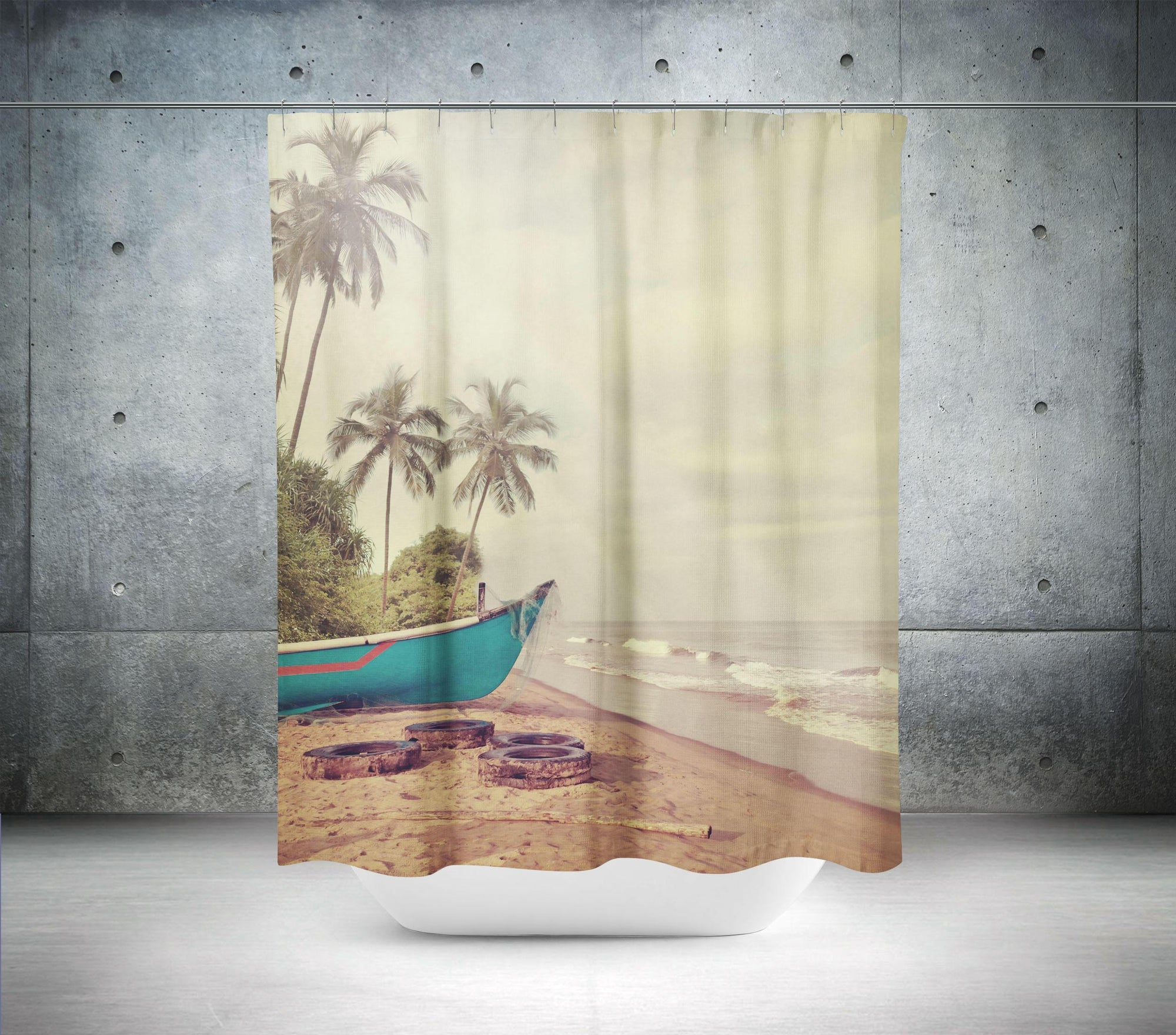 Coastal Shower Curtain-W.FRANCIS