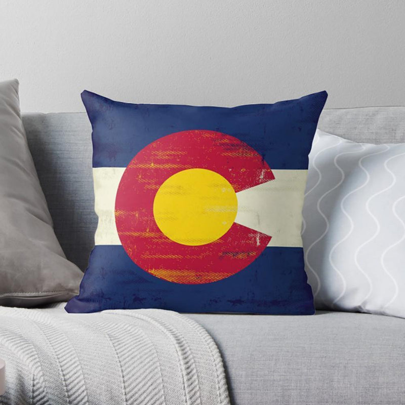 Colorado Flag Pillow-W.FRANCIS