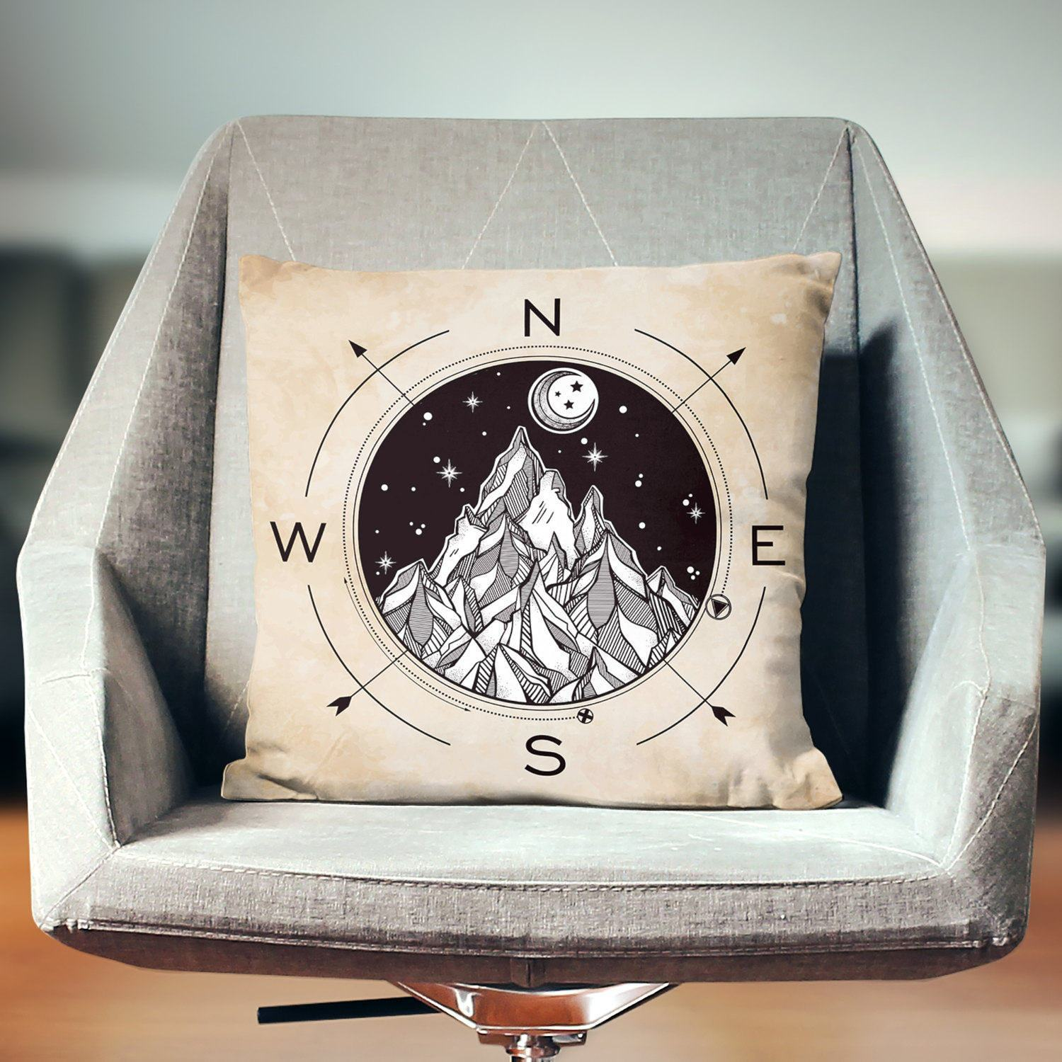 Compass Pillow - Pillow Covers - W.FRANCIS