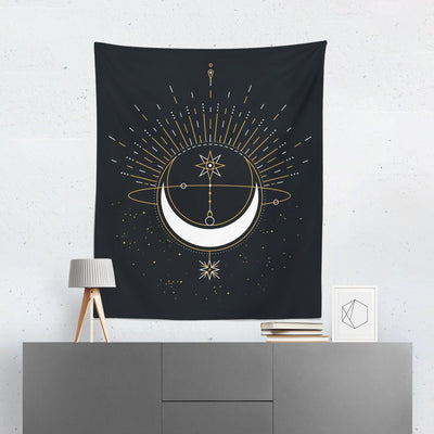 Crescent Moon Tapestry-W.FRANCIS