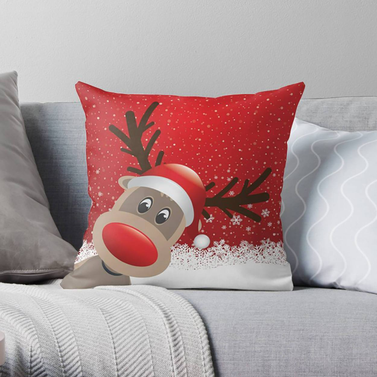 Cute Christmas Pillows | Pillow Covers | wFrancis Design