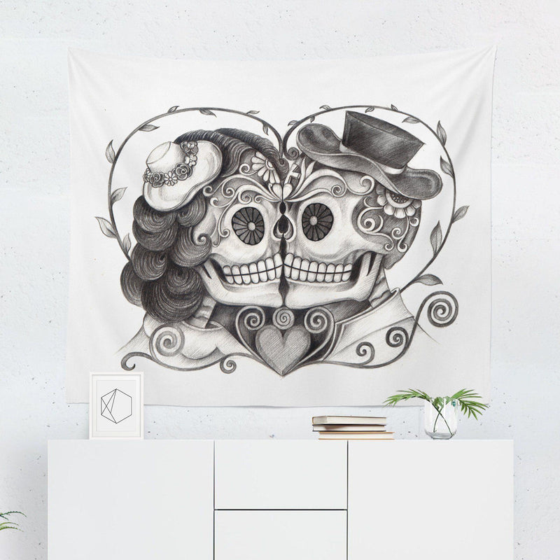 Day of the Dead Wall Tapestry-W.FRANCIS