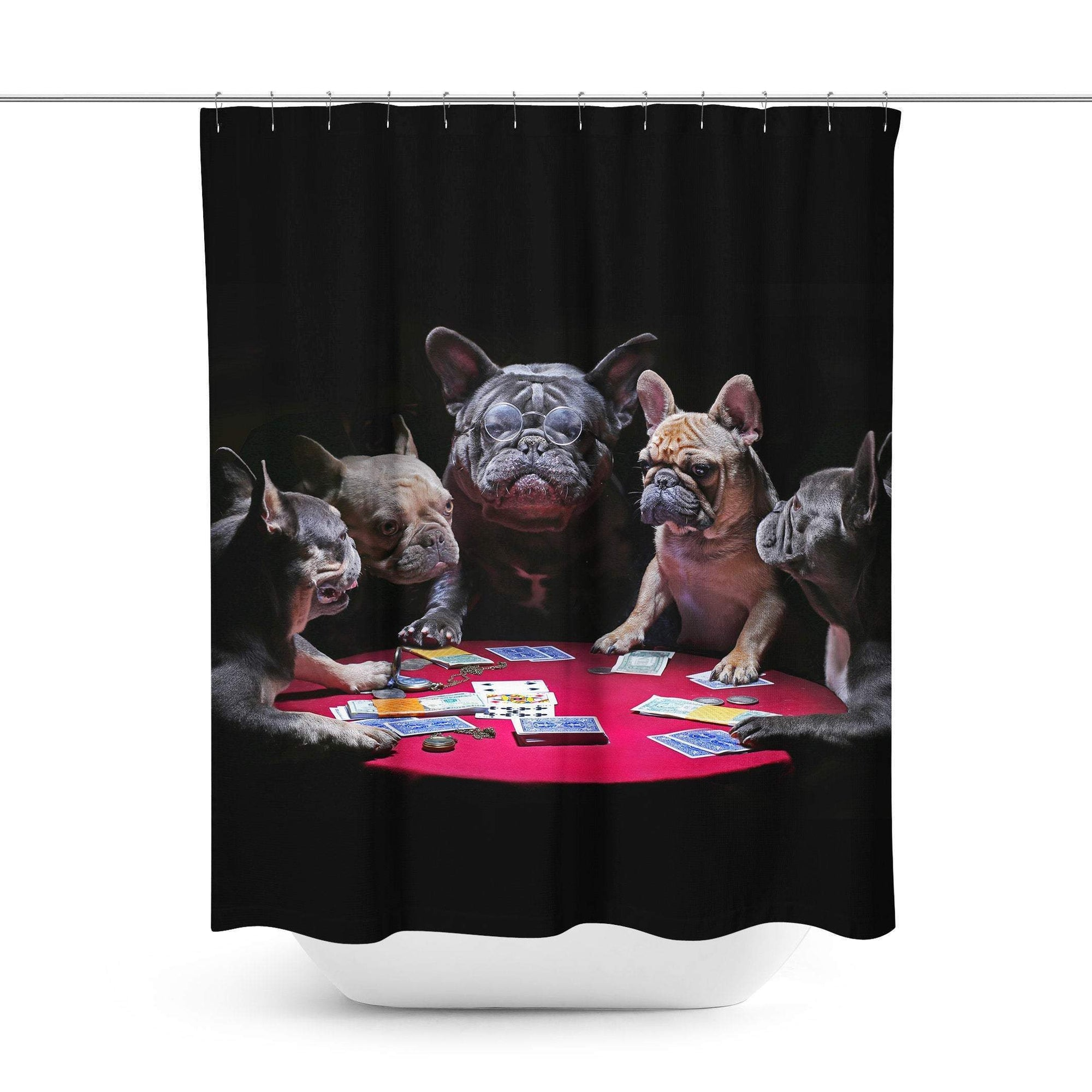 Dog Shower Curtain-W.FRANCIS