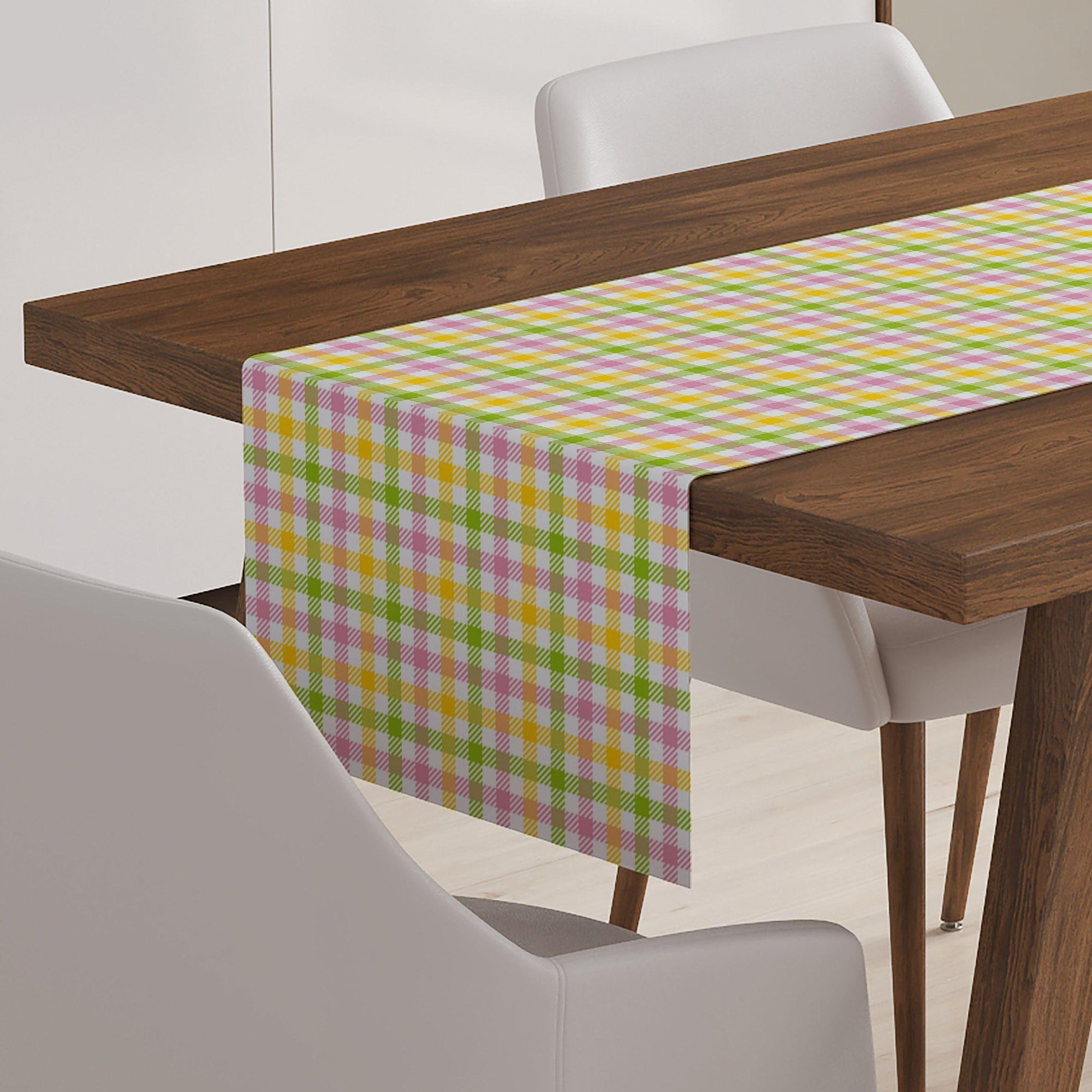 Easter Plaid Table Runner-W.FRANCIS