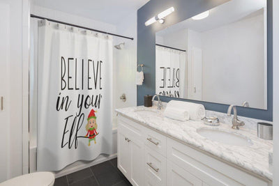 Believe in Your Elf Christmas Shower Curtain
