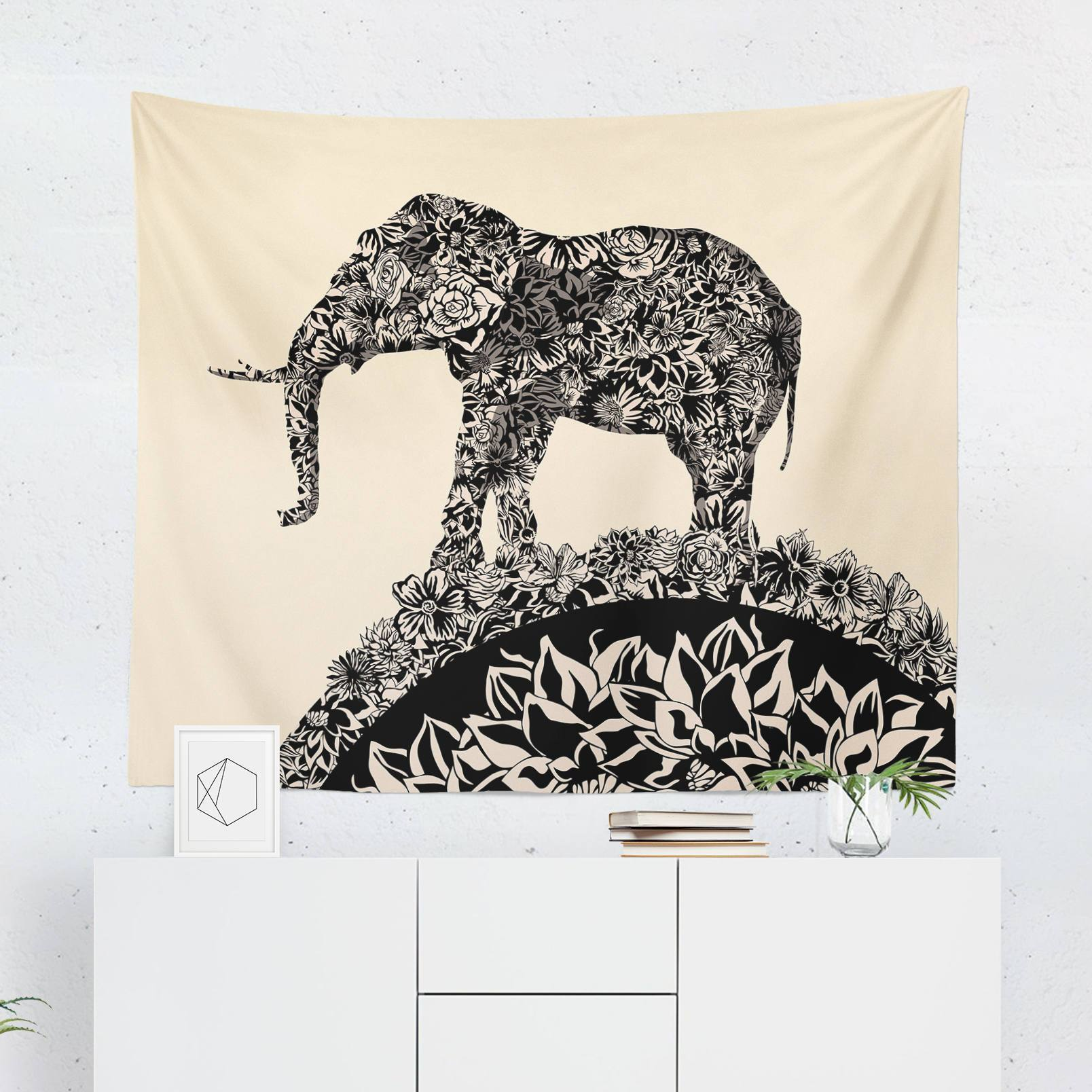 Elephant Wall Tapestry-W.FRANCIS