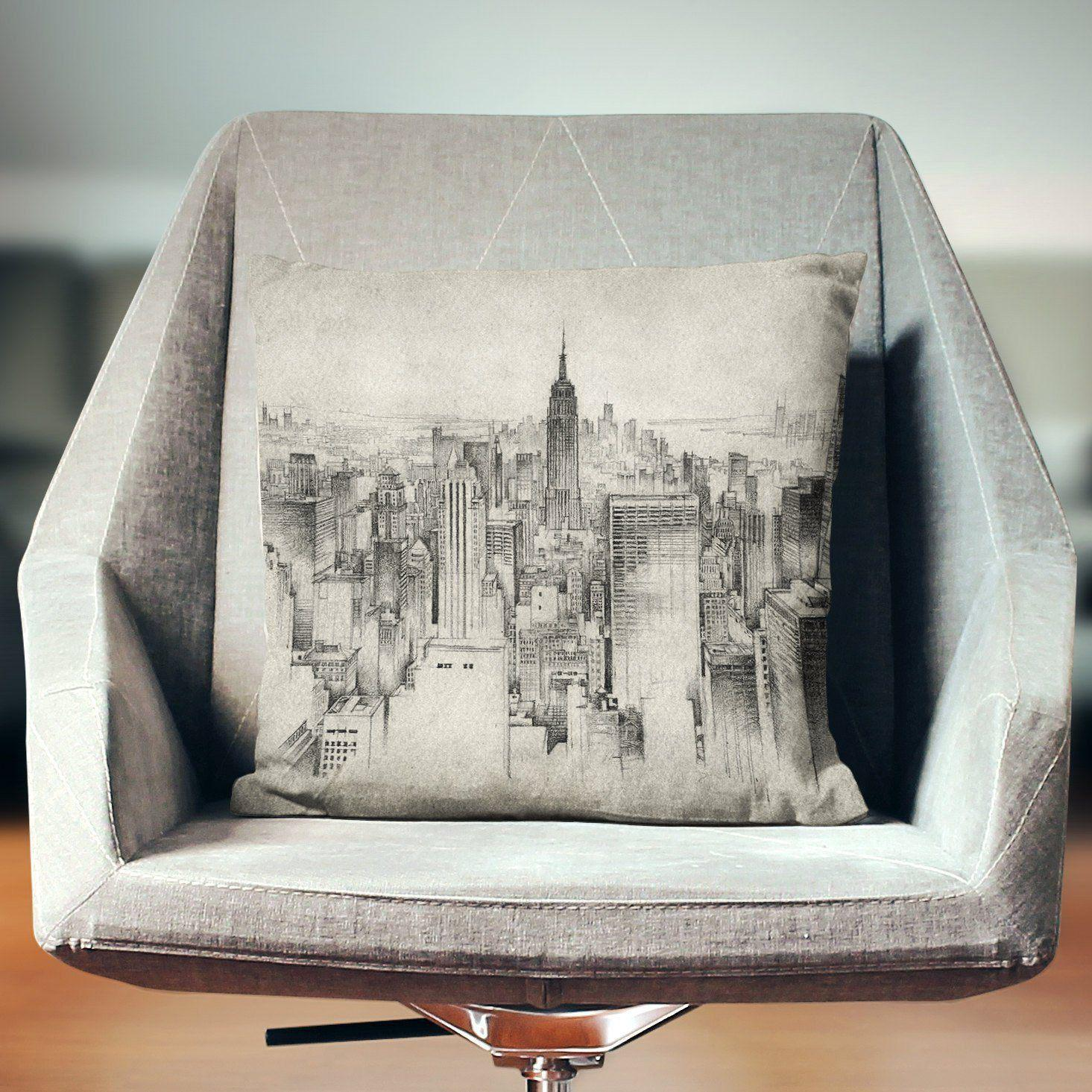 Empire State Building Pillow-W.FRANCIS