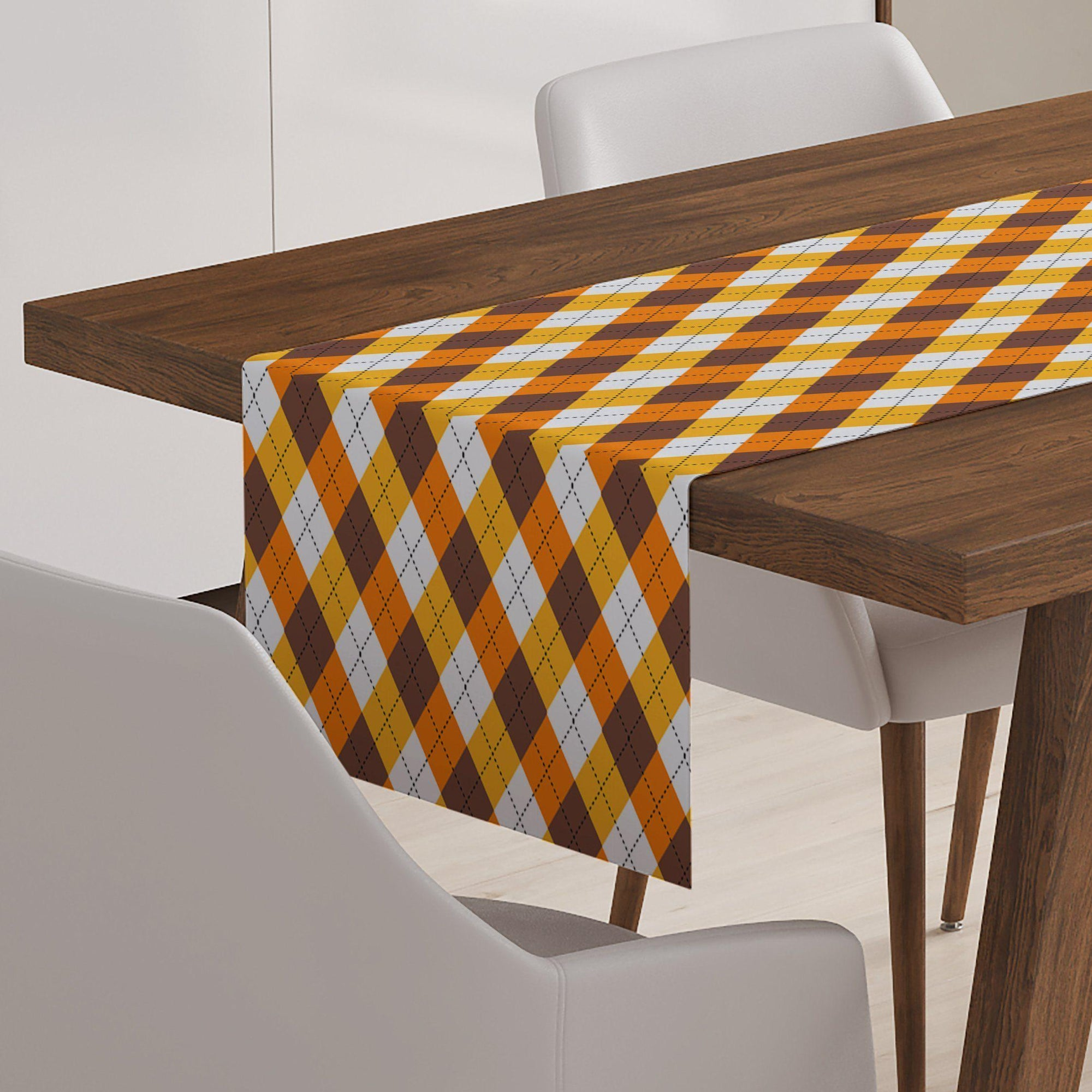Fall Plaid Table Runner-W.FRANCIS