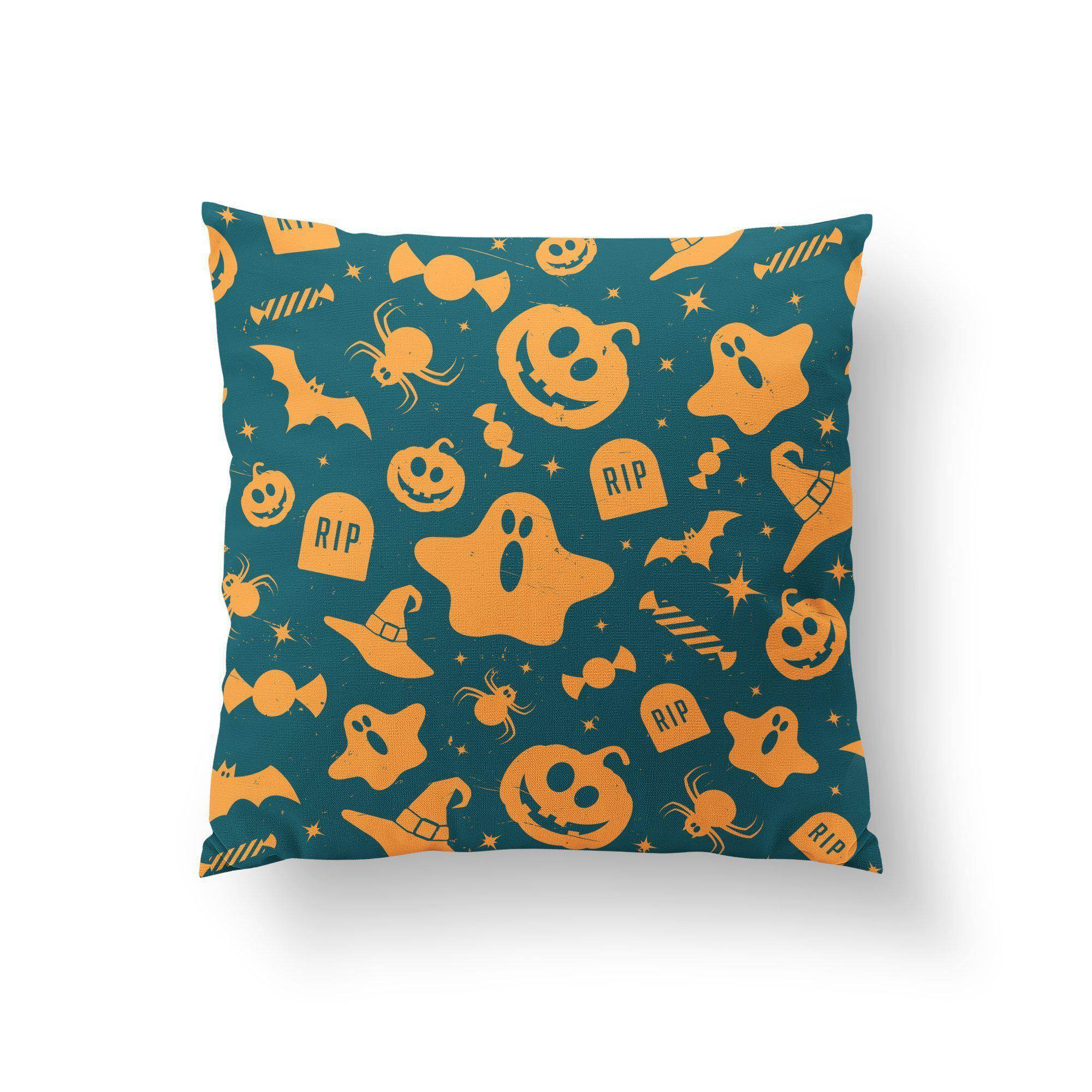 Family Friendly Halloween Throw Pillow-W.FRANCIS