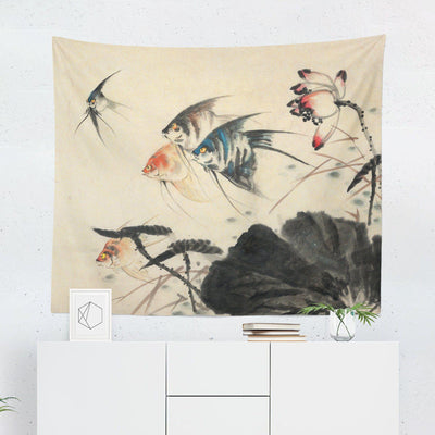 Fish Japanese Tapestry - Tapestries - W.FRANCIS
