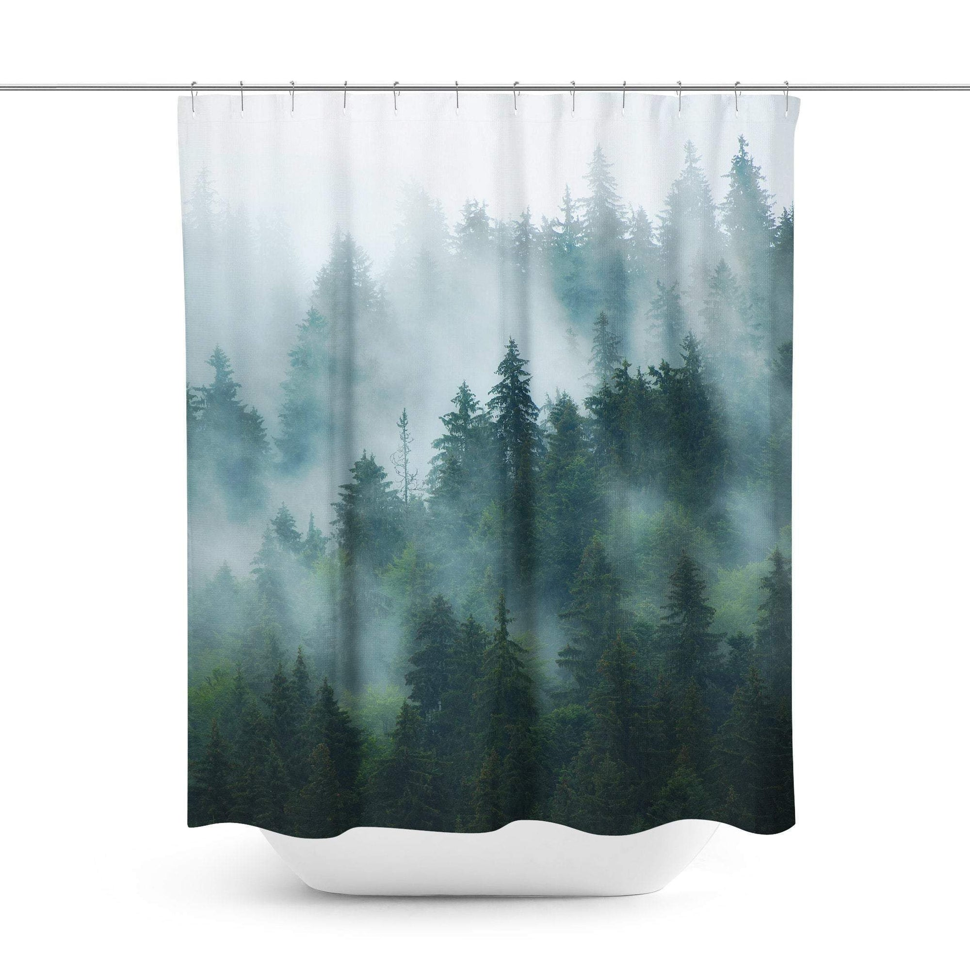 Foggy Mountain Shower Curtain-W.FRANCIS