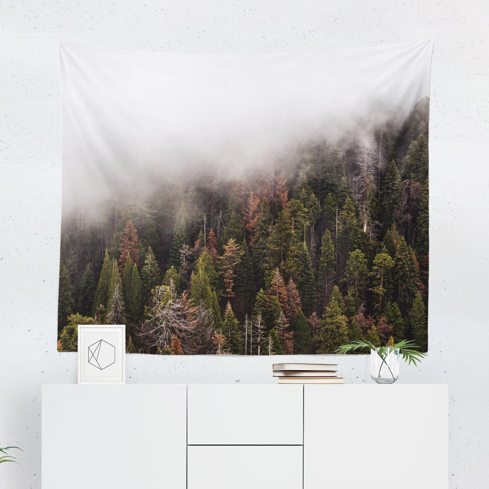 Forest Misty Wall Tapestry-W.FRANCIS
