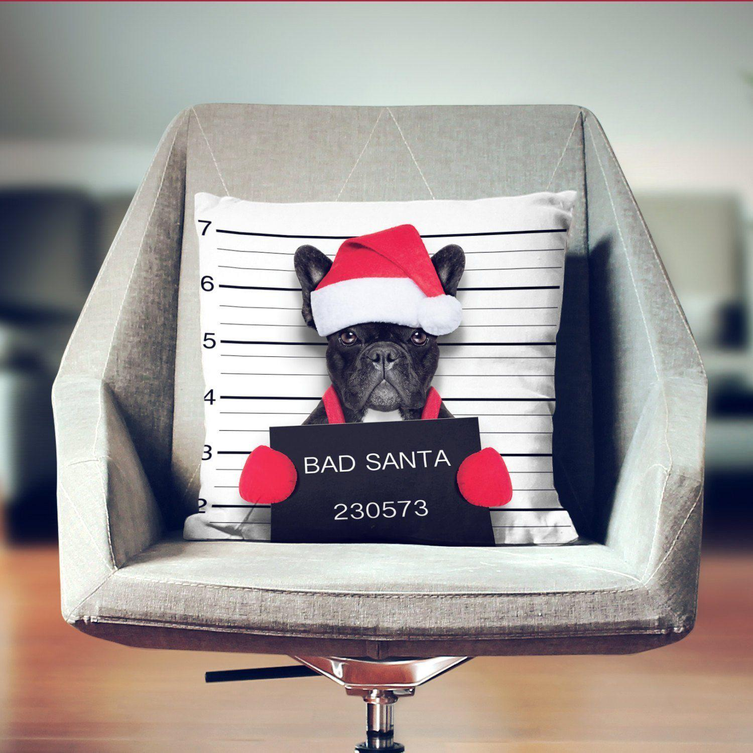 French Bulldog Christmas Pillow-W.FRANCIS