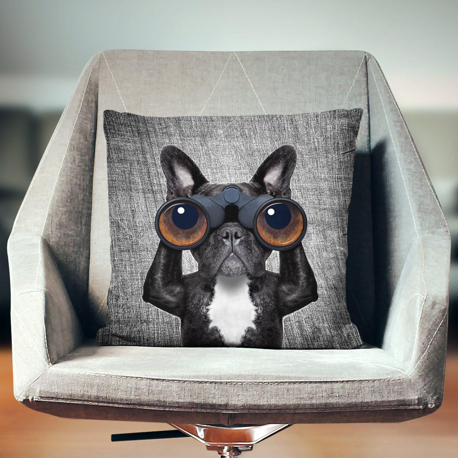 French Bulldog Cushion-W.FRANCIS