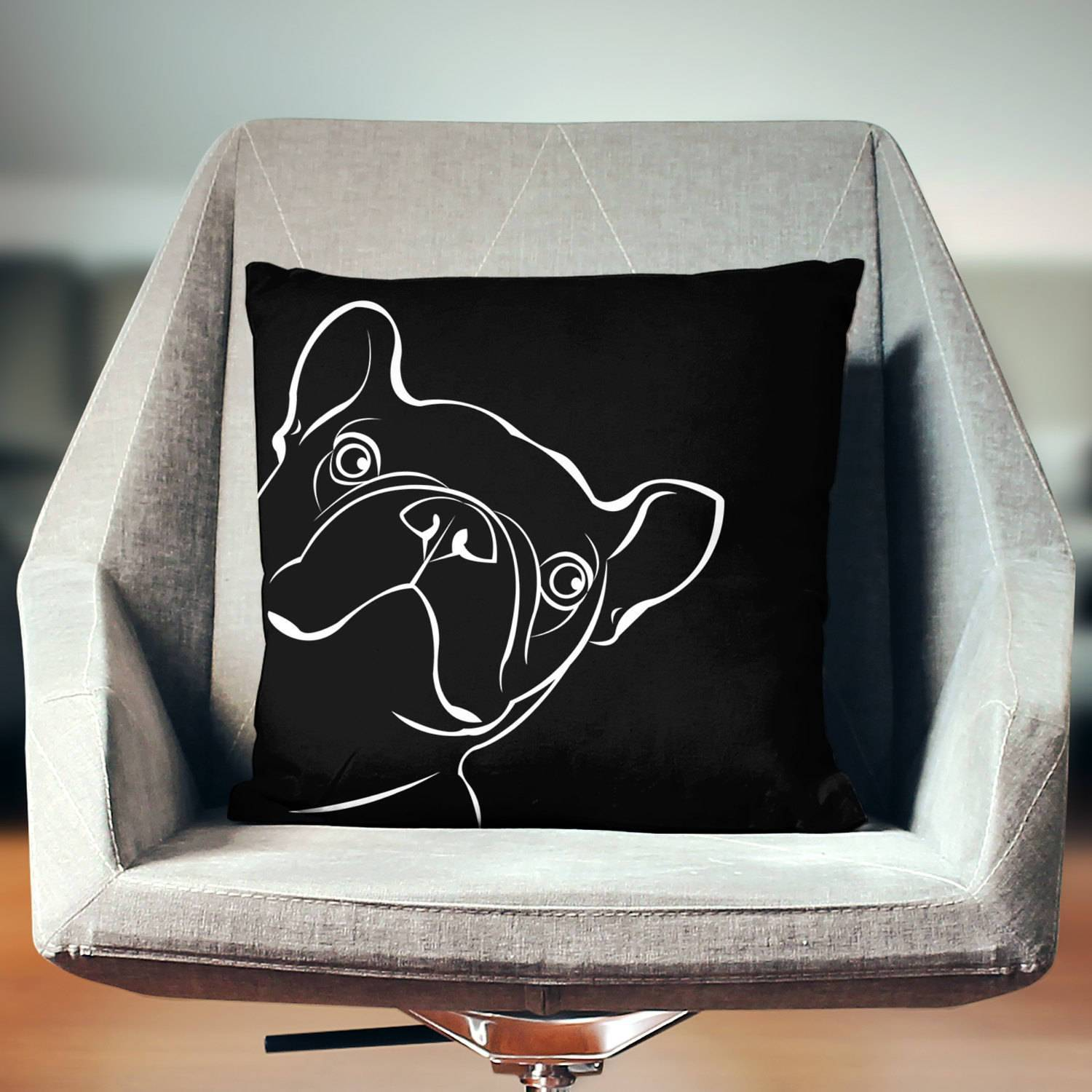 French Bulldog Throw Pillow-W.FRANCIS
