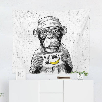 Funny Monkey Tapestry-W.FRANCIS