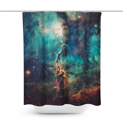 Galaxy Cosmic Shower Curtain-W.FRANCIS