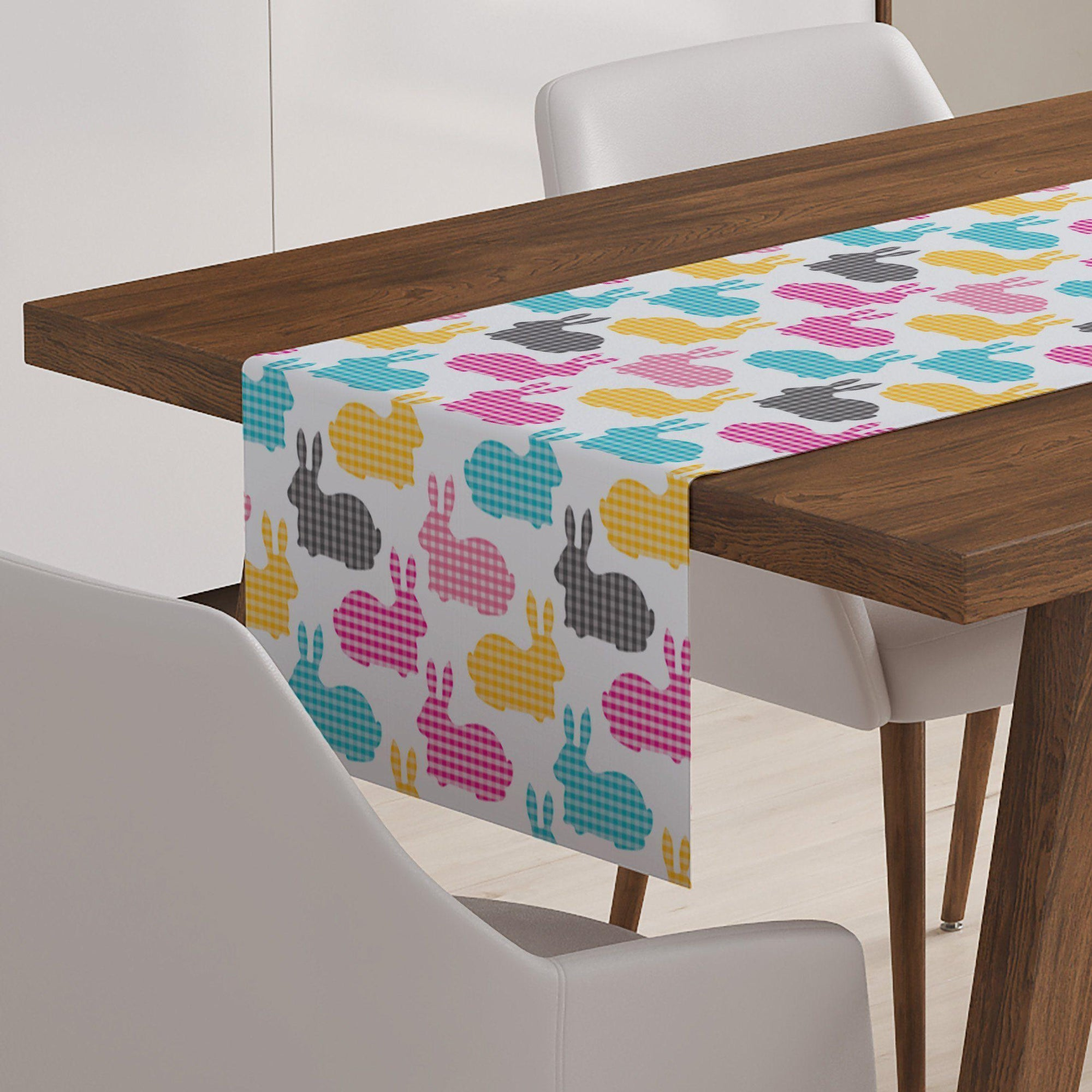 Gingham Bunny Table Runner-W.FRANCIS