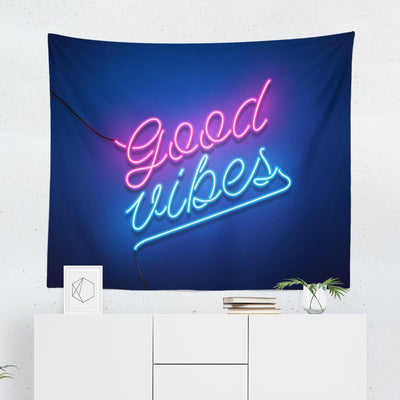 Good Vibes Neon Tapestry-W.FRANCIS