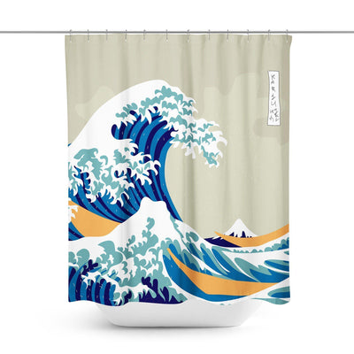 Great Wave Shower Curtain-W.FRANCIS