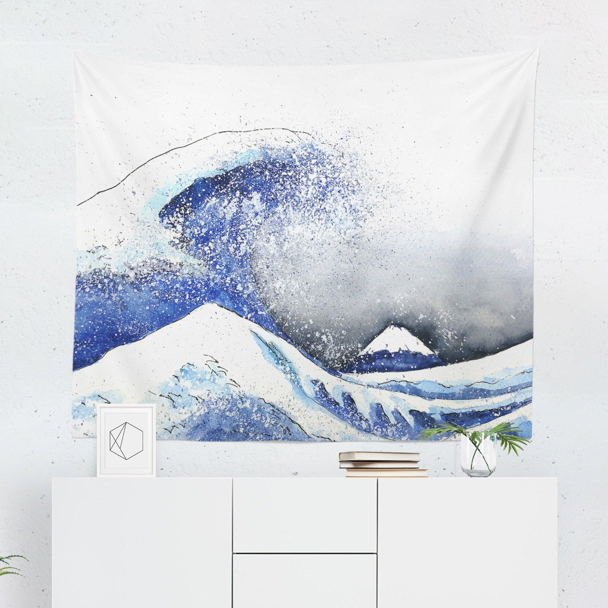 Great Wave Tapestry-W.FRANCIS