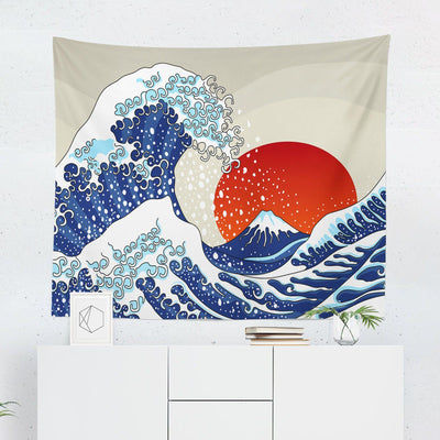 Great Wave Wall Tapestry-W.FRANCIS