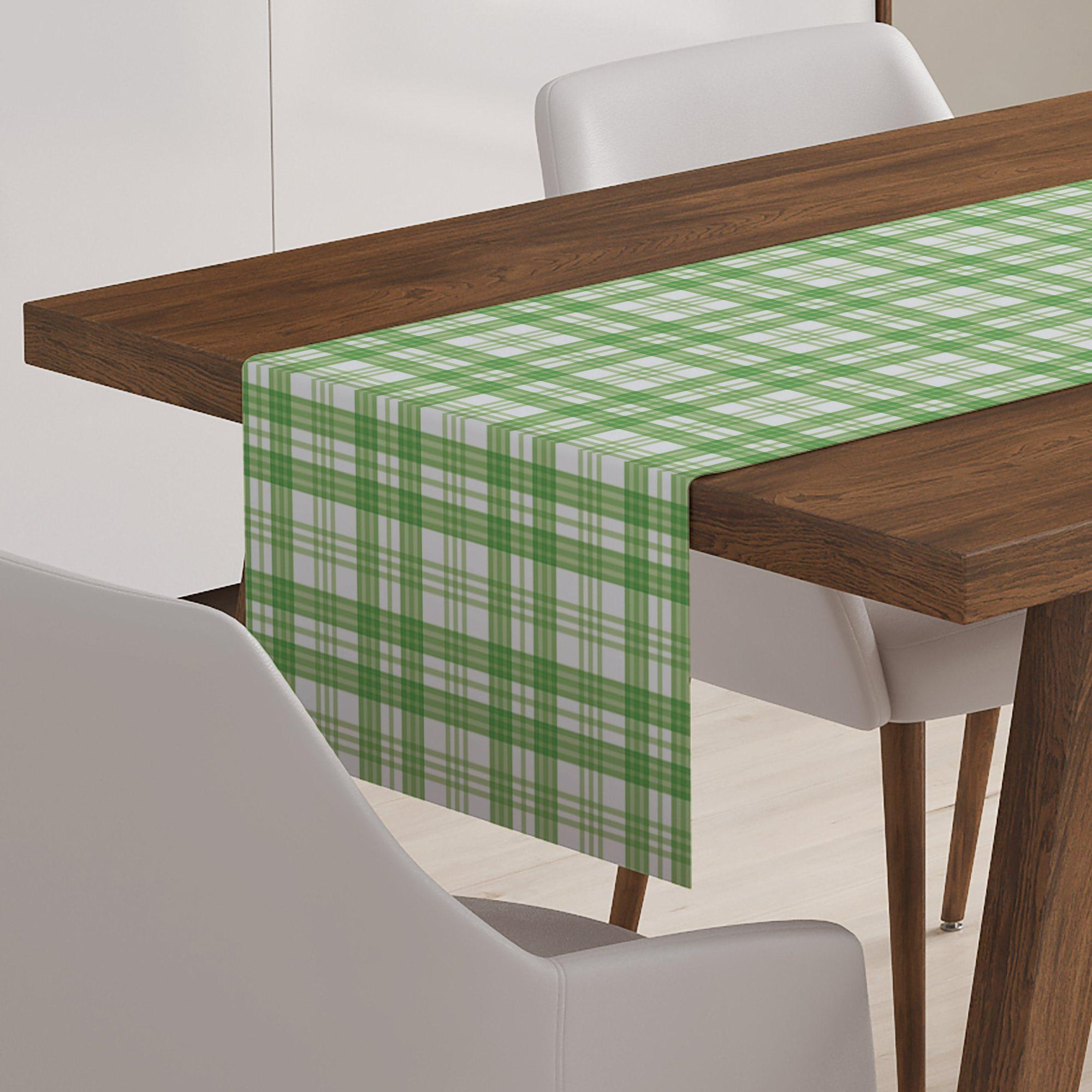 Green Check Table Runner-W.FRANCIS