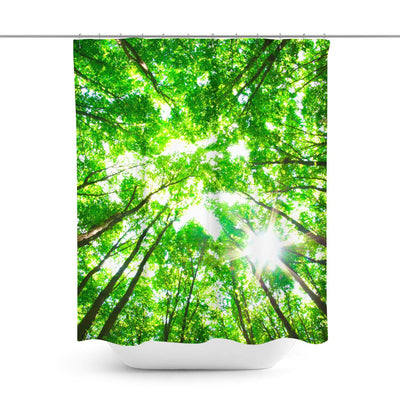 Green Forest Shower Curtain-W.FRANCIS