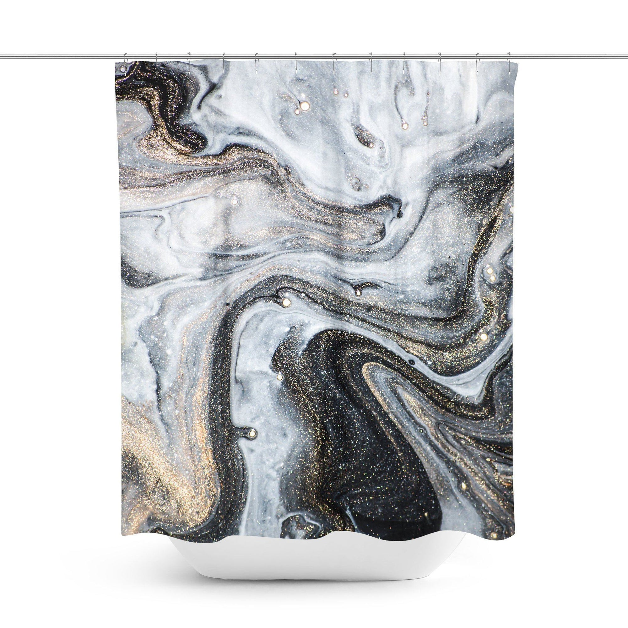 Grey Marble Shower Curtain-W.FRANCIS