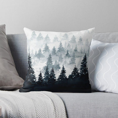 Grey Mountain Throw Pillow-W.FRANCIS