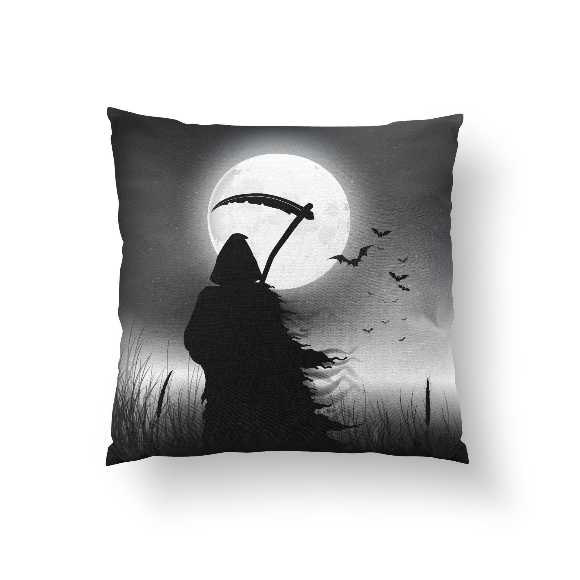 Grim Reaper Halloween Throw Pillow - Pillow Covers - W.FRANCIS
