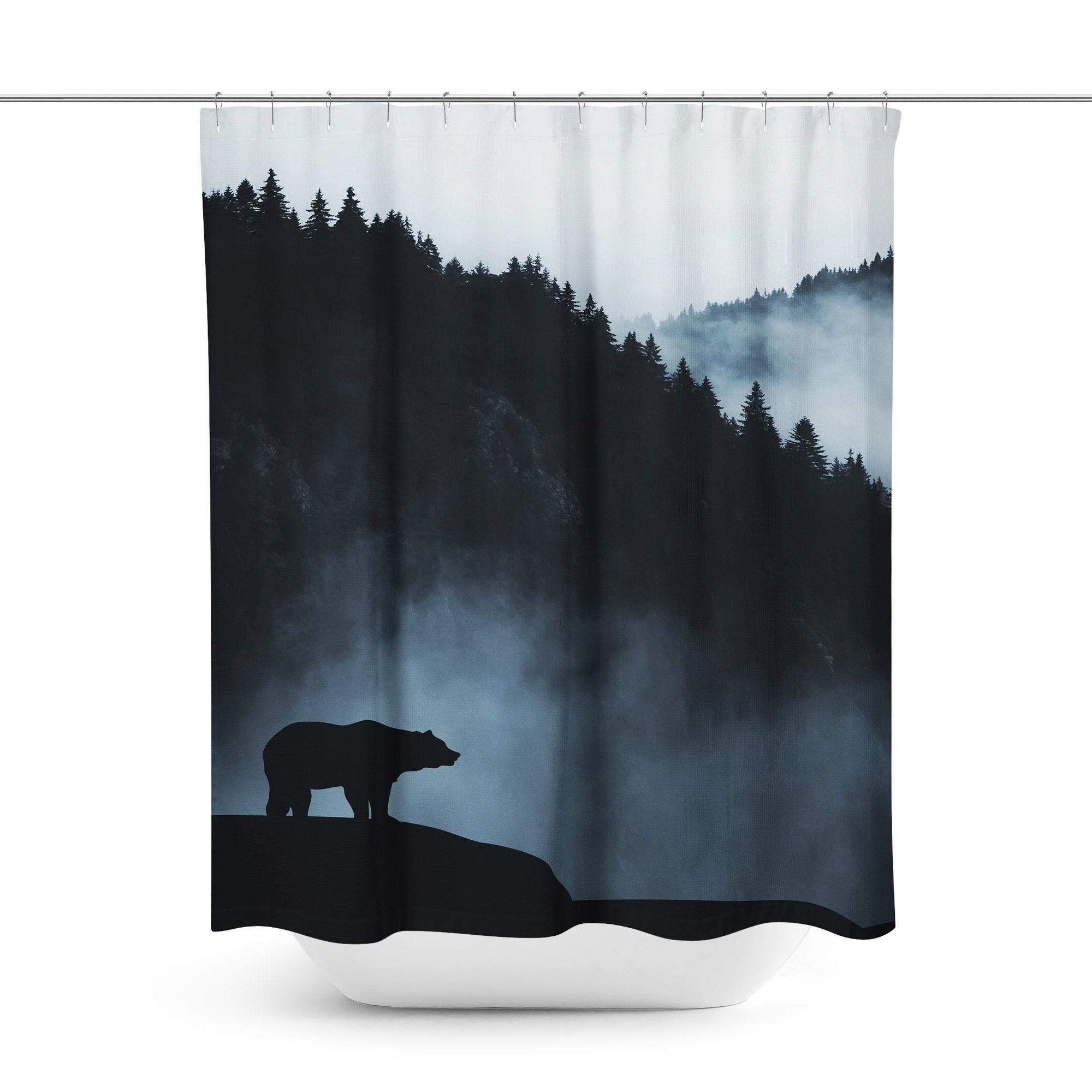 Grizzly Bear Shower Curtain-W.FRANCIS