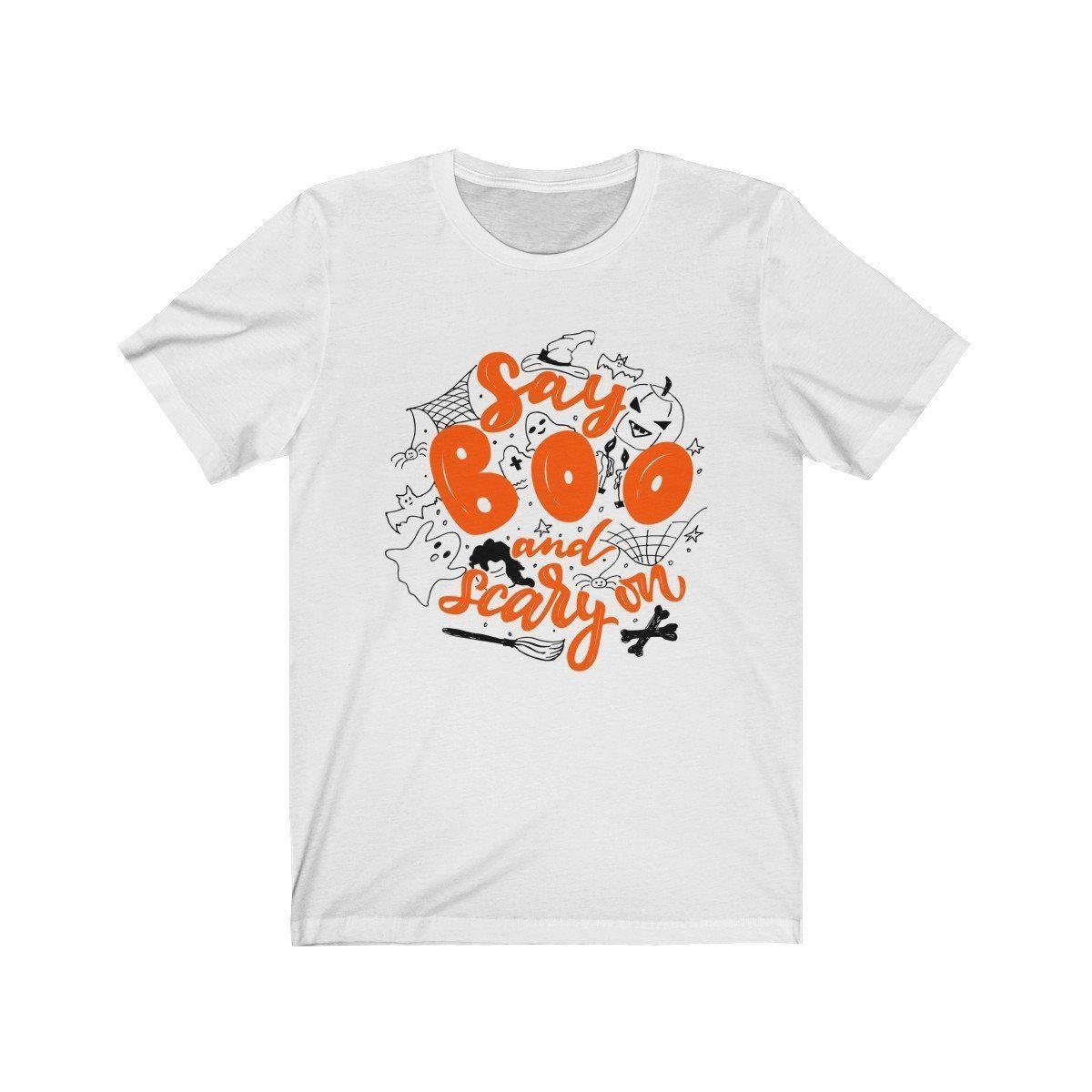 Halloween Boo and Scary On T-Shirt-W.FRANCIS