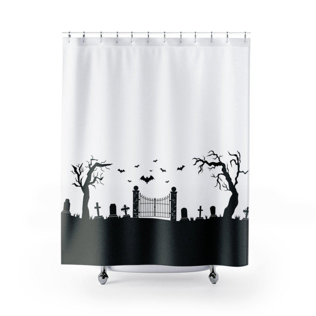 Halloween Cemetery Shower Curtain-W.FRANCIS