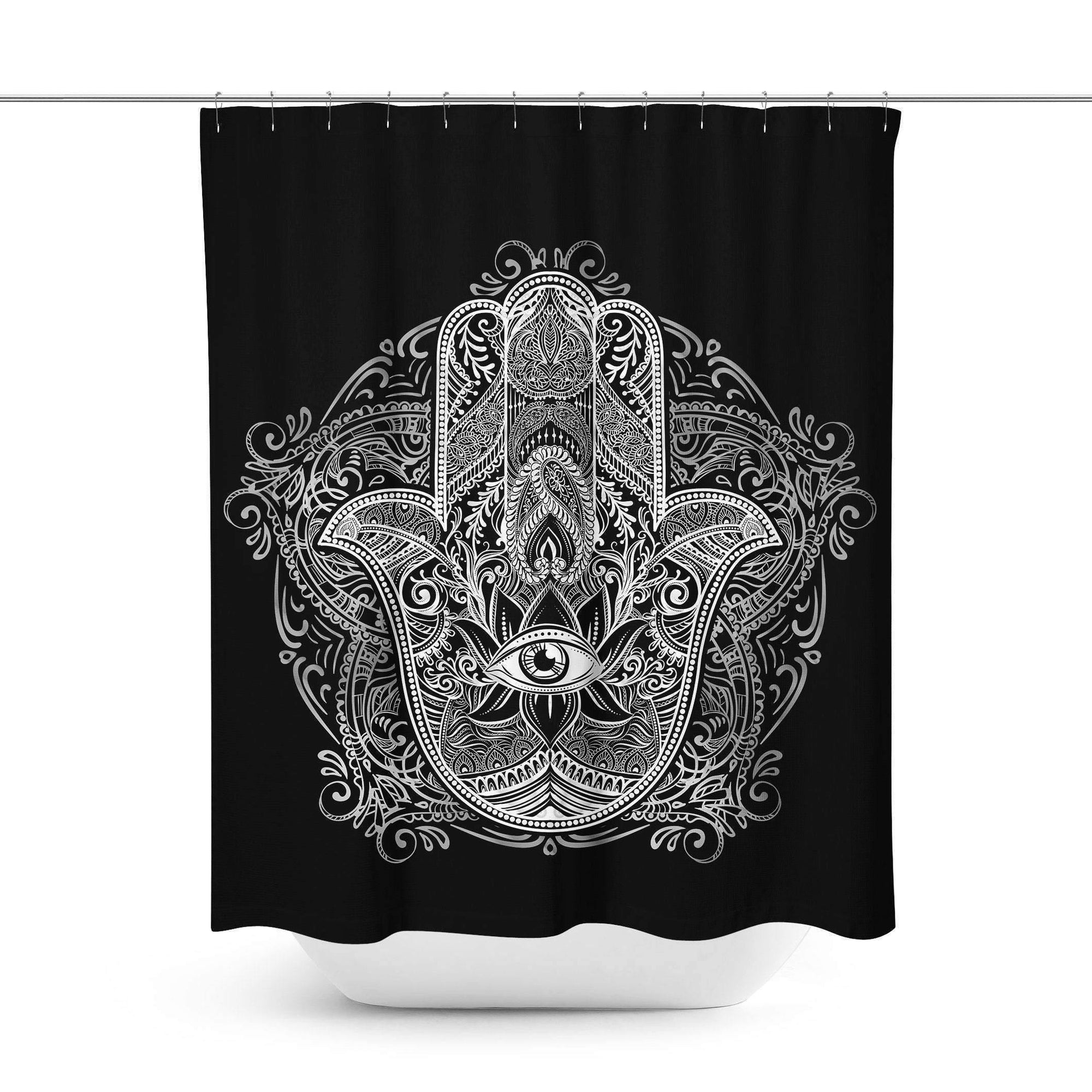Hamsa Hand Shower Curtain - Shower Curtains - W.FRANCIS