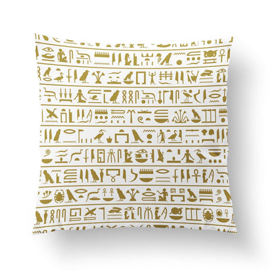 Hieroglyphics Pillow-W.FRANCIS