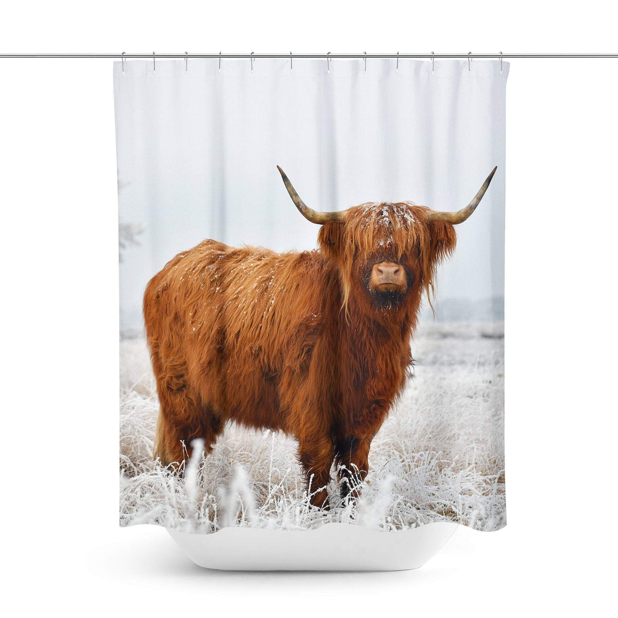 Highland Cow Shower Curtain-W.FRANCIS