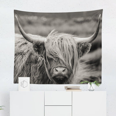 Highland Cow Tapestry-W.FRANCIS