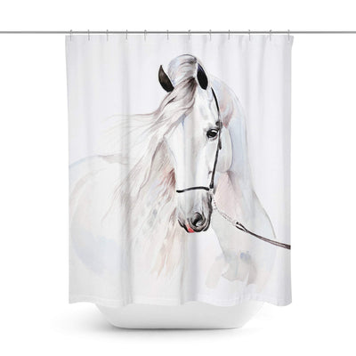 Horse Shower Curtain-W.FRANCIS